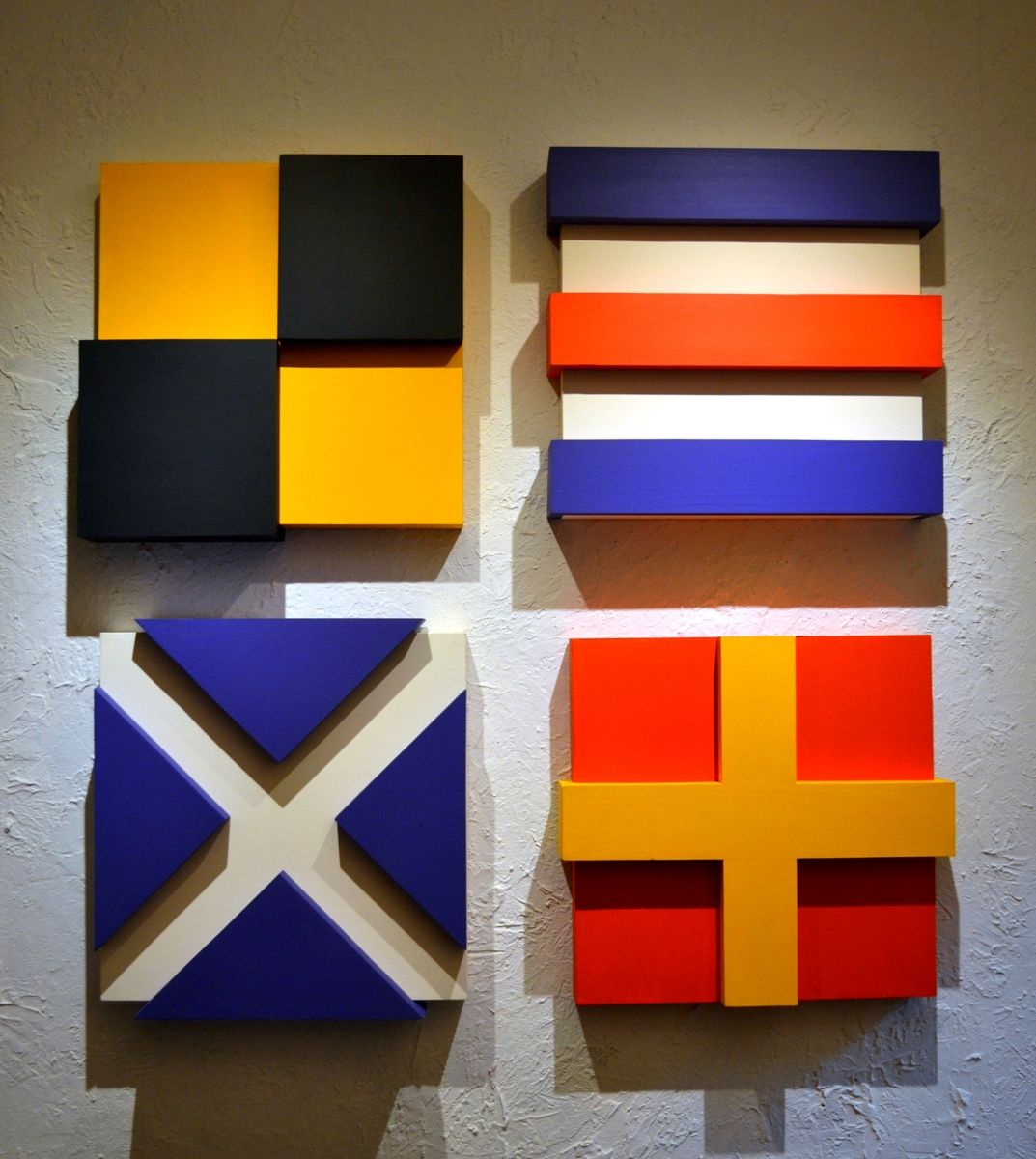 """Nautical Signal Flags. From the """"Two Over Two"""" collection (large view)"""