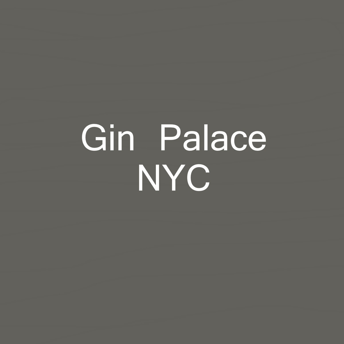 Gin Palace, NYC (large view)