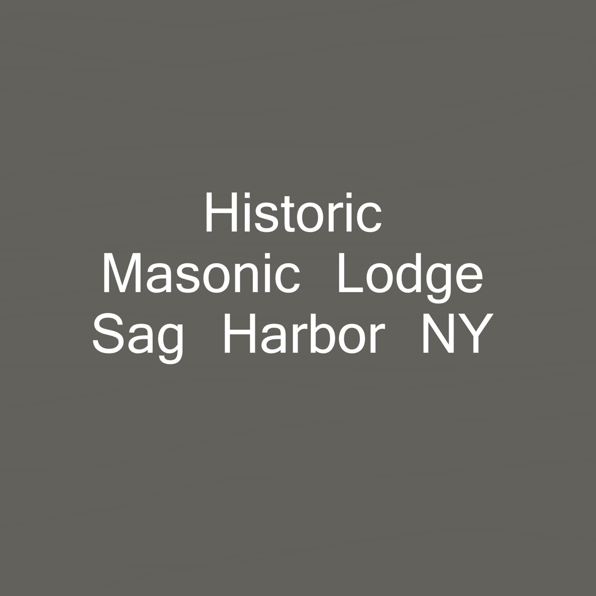 Sag Harbor Masonic Lodge. Completed: 6/15/16 (large view)