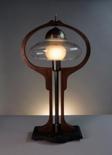 Donovan Harp. Table Lamp by Leslie Donovan