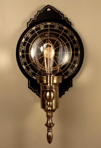 """Parrish Carriage I "" Steampunk Wall Lantern"