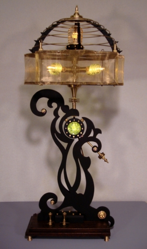 """Thin White Duke"" Steampunk Sculptural Lamp"