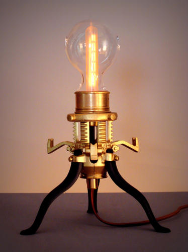 """Mr. Peanutski"" The Original Steampunk Lamp"