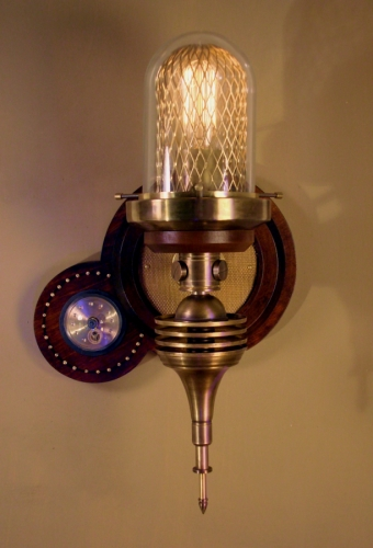 """Parrish Carriage III"" Steampunk Wall Lamp"