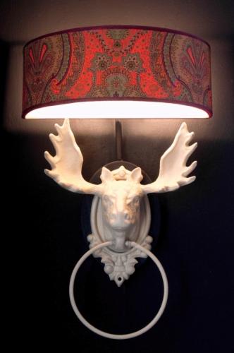 Moose Head Wall Lamp