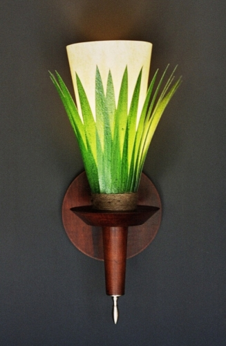Royale Palm.  Wall Lamp by Art Donovan (large view)