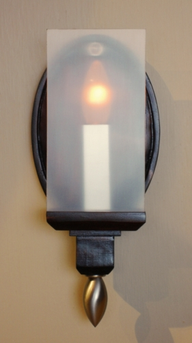 Oval Candle Sconce by Art Donovan (large view)