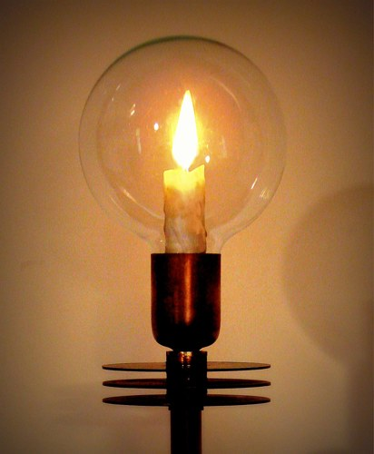 """Moving """"Candle Flame"""" in Glass Globe"""