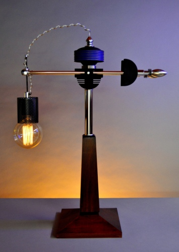 Teslagraff #4. Steampunk table lamp
