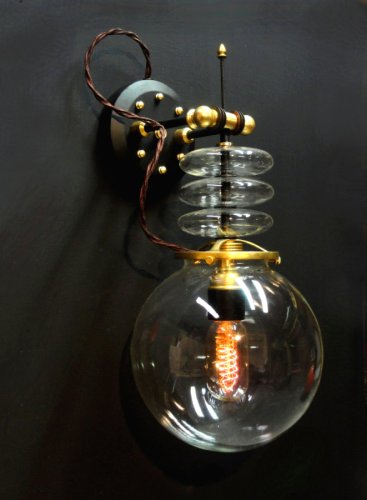 """Tesla"" Steampunk Wall Lamp"