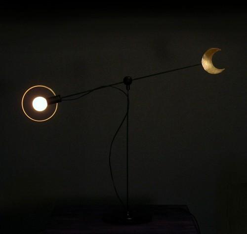 sun + moon table lamp