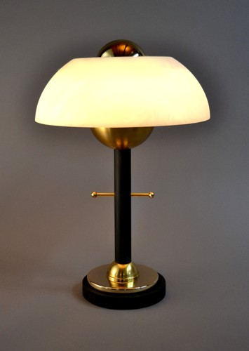 'petite odeon', accent table lamp. summer golden collection.