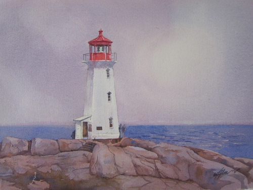 lighthouse at peggy's cove by arthur gilmore