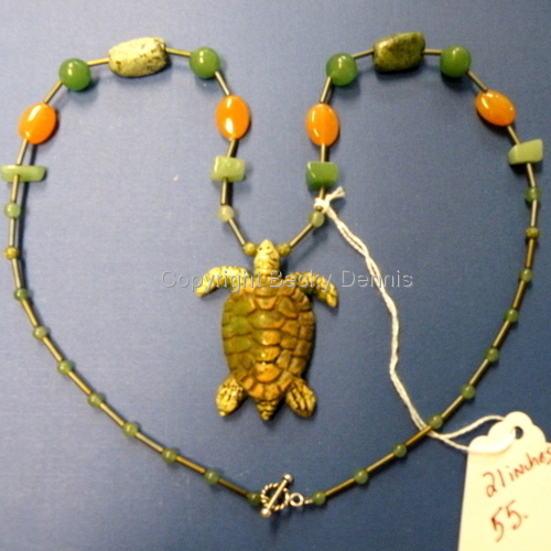 Stoneware Sea Turtle Necklace