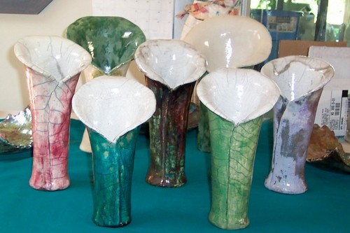 Multiple Raku vases