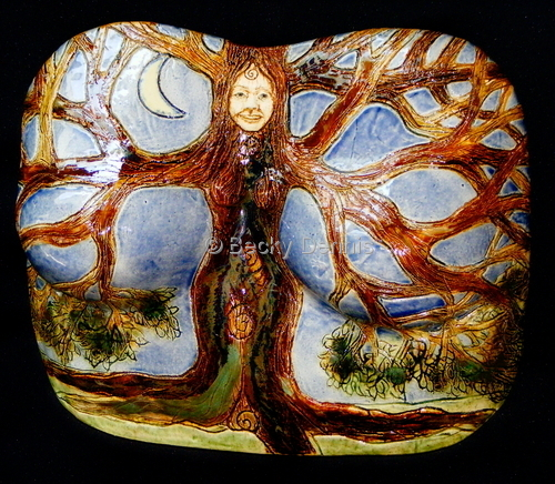 Tree Woman with Moon