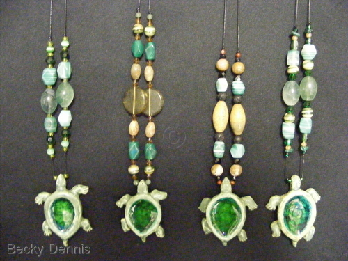 Hand created Turtle Necklaces