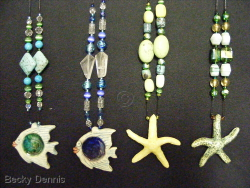 Hand created Fish and Starfish Necklaces