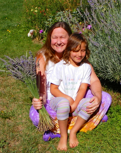 Becky and Sophia with Lavender