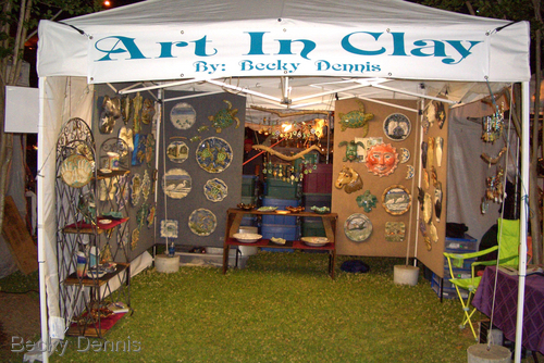 Booth Picture at Festival International in Lafayette, LA