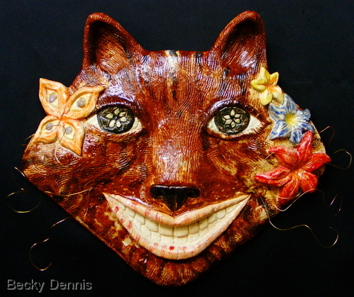 "Tabby ""wired"" cheshire cat mask"