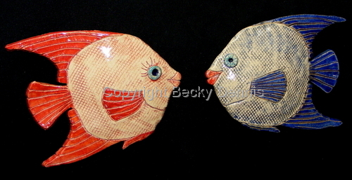 A pair of Kissy Fish