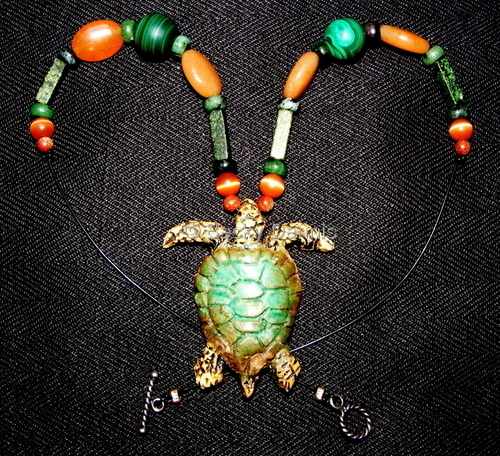 Sea Turtle Necklace 17 inch