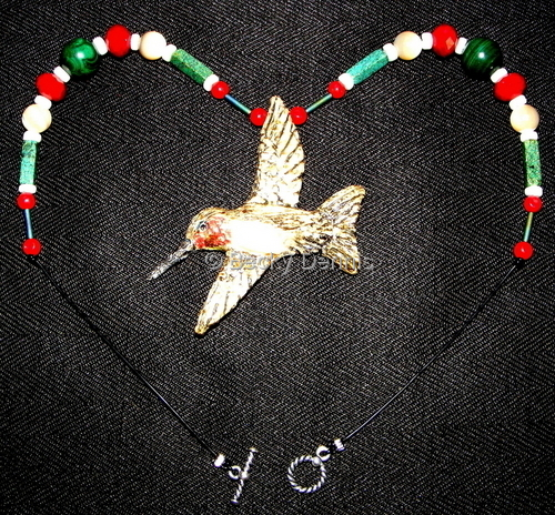 Hummingbird Necklace of Joy