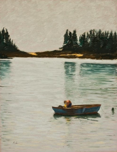 Fisherman, Two Boats, Deer Isle