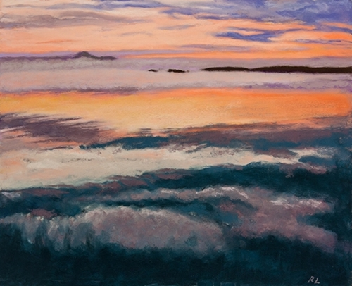 Fog Bank and Sunset, Penobscot Bay