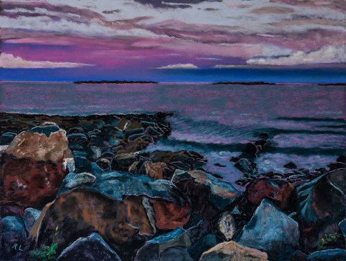 The Coast at Port Clyde by Richard Levine