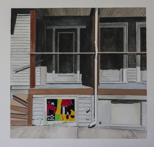 """Homage:  Stuart Davis, """"Composition"""""""