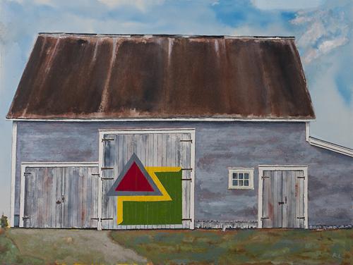 "Homage: Frank Stella, ""Chocorua IV"" 1966"