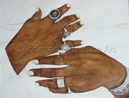 ADELIA'S HANDS by Adrienne Patel Fine Art