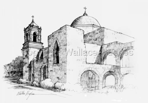 San Jose Mission by Wallace Hughes