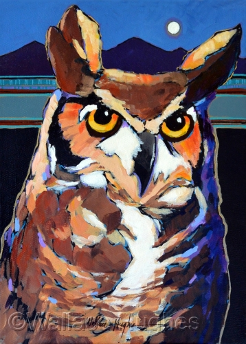 Buho Uno or Owl One by Wallace Hughes