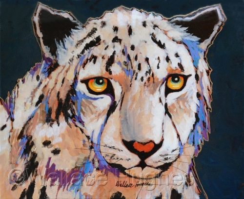 Snow Leopard by Wallace Hughes