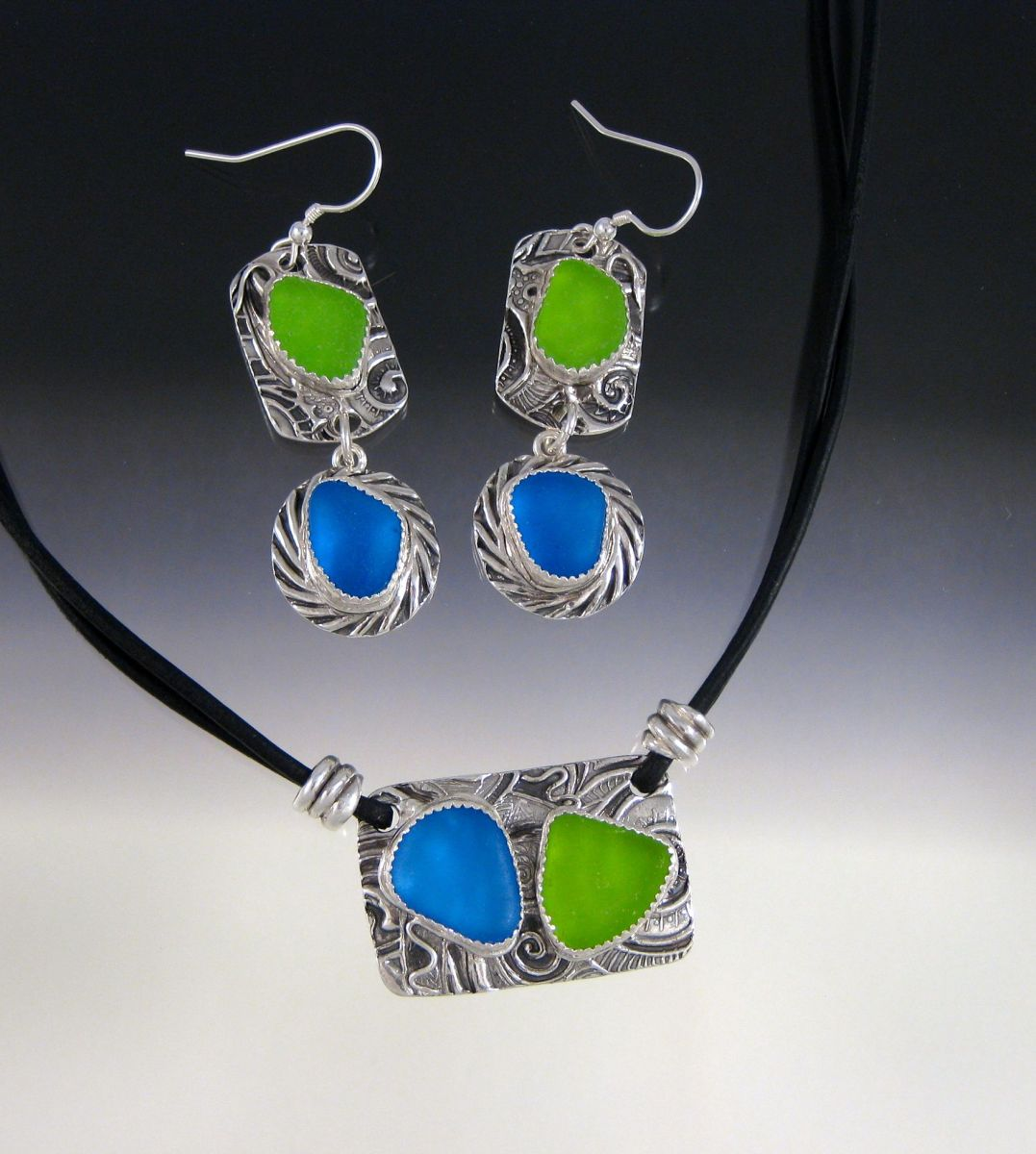 Leather Necklace/Earring Set for Hanlie (large view)