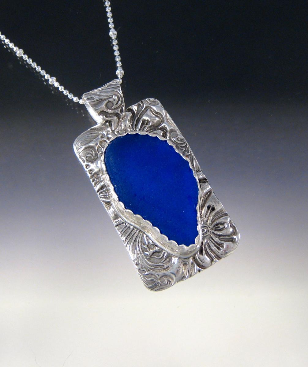 Janets Huge Cobalt Necklace (large view)