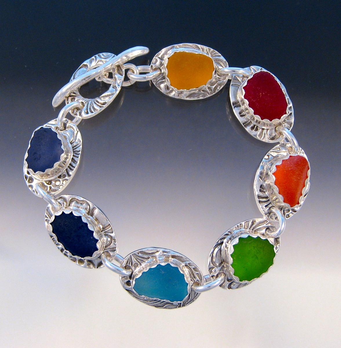Custom order - 7 chakra bracelet (large view)