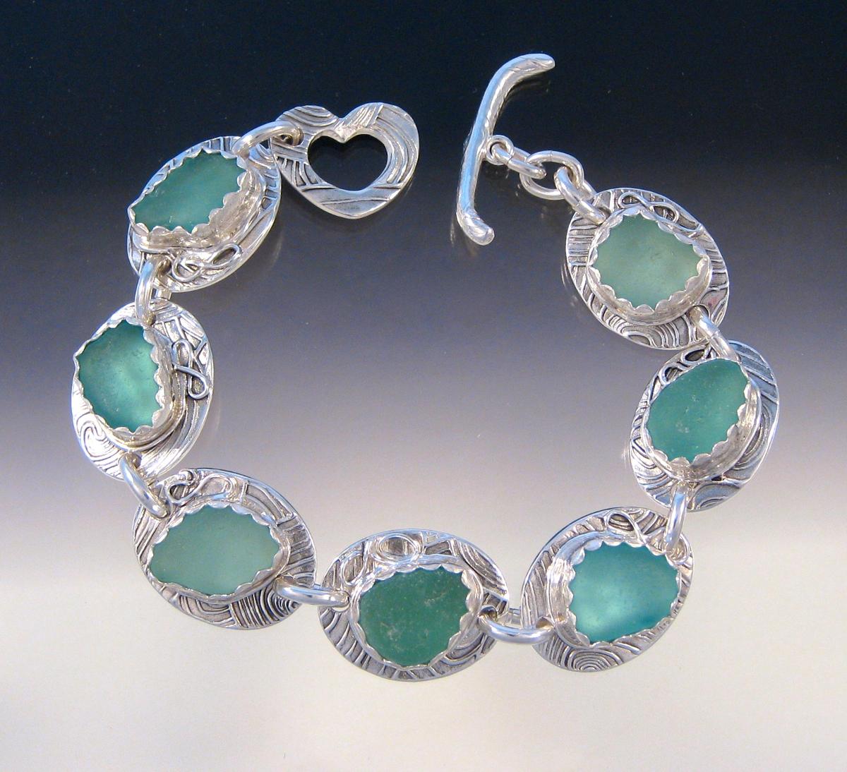 Custom order - all aqua's bracelet (large view)