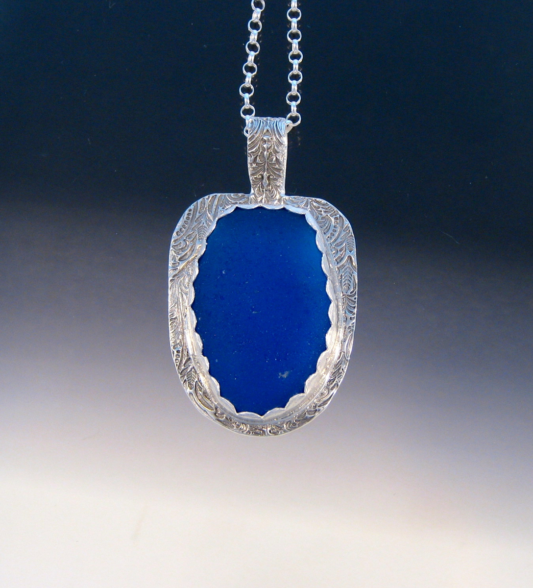 P5096 - The BIG Beauty Cobalt pendant (large view)