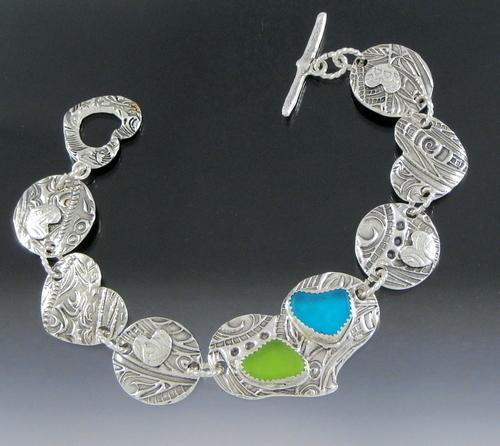Penni's Patchwork Quilt Bracelet  (large view)