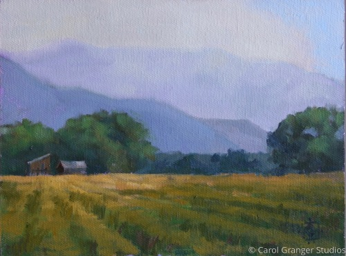 Smoky Day at the Probst Ranch by Carol Granger Studios
