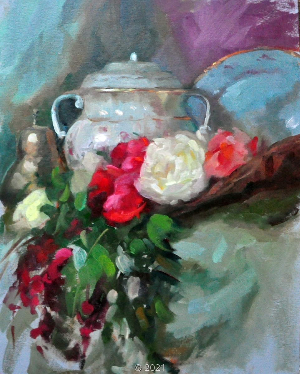 'Cascade of roses' by Sorg (large view)