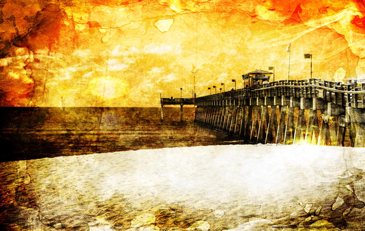 'Sunset - Venice Fishing Pier' by Bibbins (large view)
