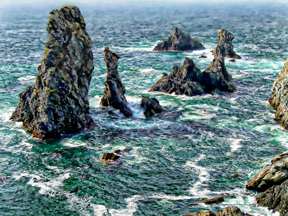 'The Needles, Belle Ile' by Bibbins (large view)