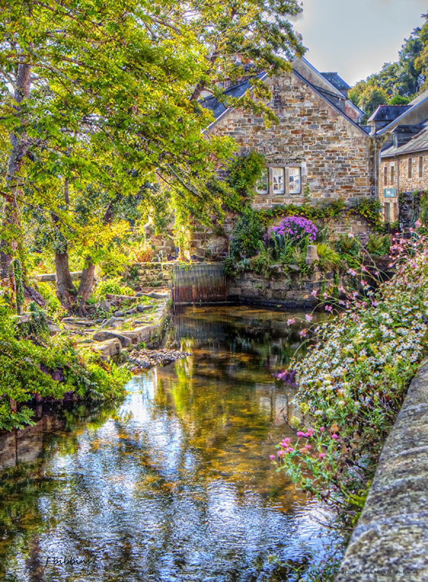 'The Mill, Pont Aven' by Bibbins (large view)