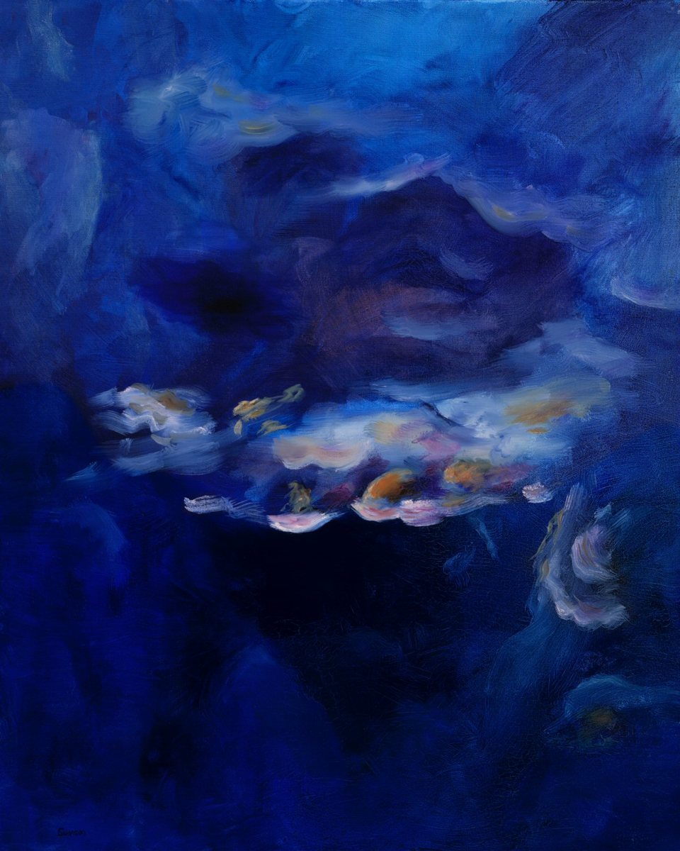 'Coral Reef Blue Abstract ' by Swanson (large view)