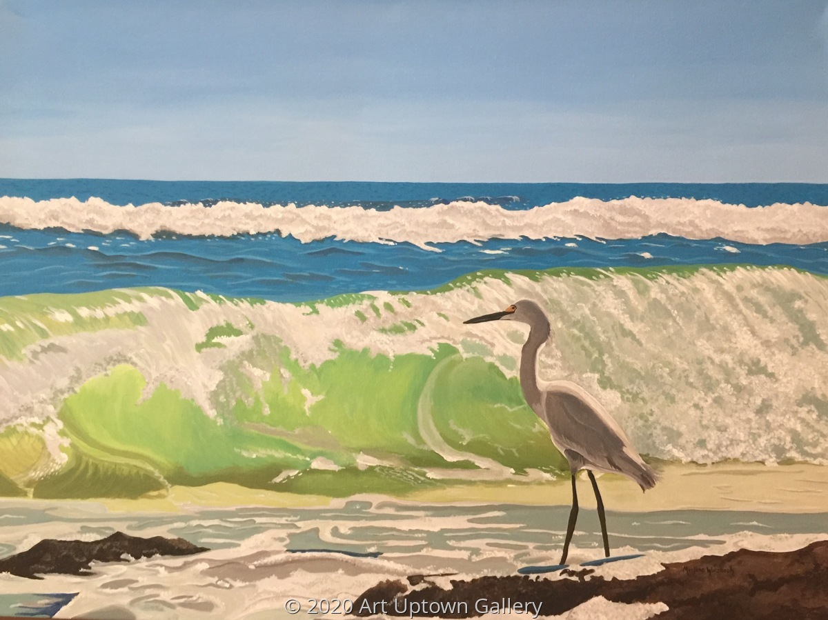 'Snowy Egret' by Wurzbach (large view)